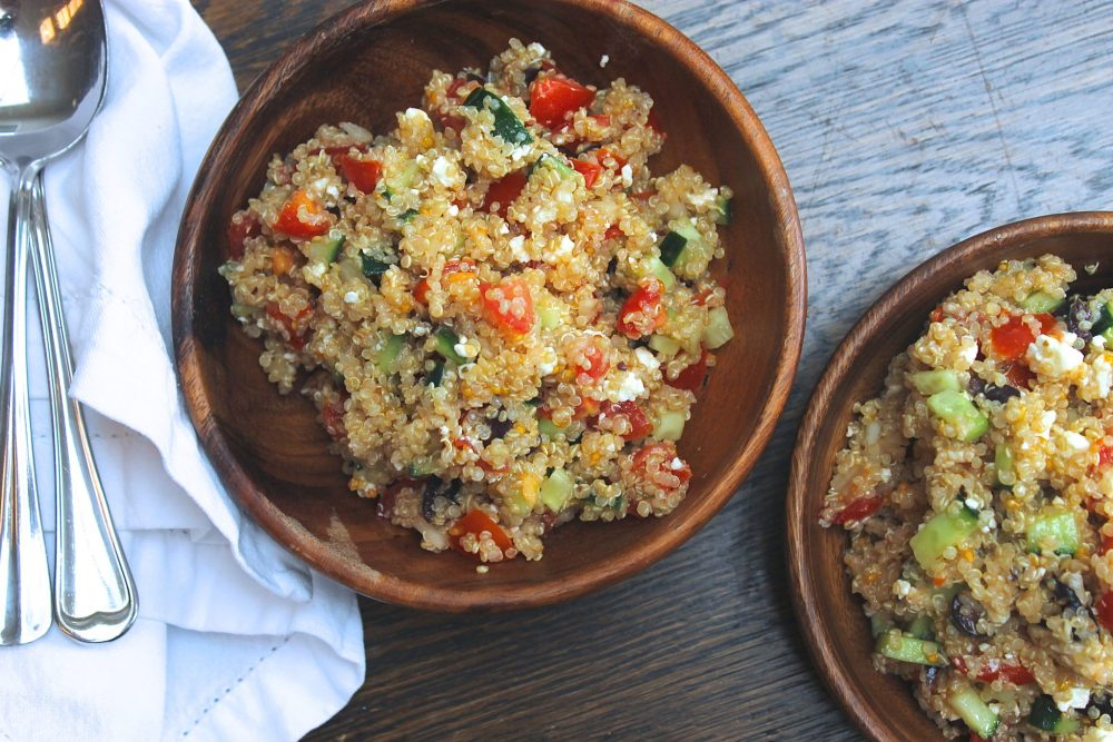 Greek Quinoa Salad | WORLD OF WANDERLUST