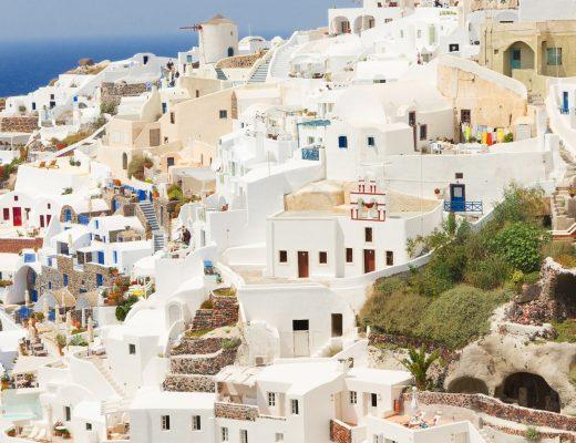 Santorini village, Greece