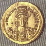 Theodosius_II_solidus_Constantinople antiquity coin gold