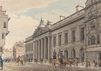 """East India House by Thomas Malton the Younger"" by Thomas Malton the Younger (1748-1804)"