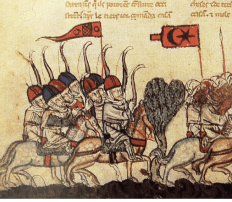 """BattleOfHoms1299"" by unknown - BNF Nouvelle acquisition française 886, fol. 31v[1]."