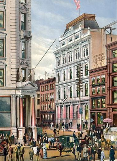 """New York Stock Exchange 1882"" by Hughson Hawley"
