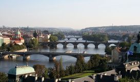 """Vltava in Prague"" by che - Own work."