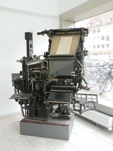 """Linotype machine"" by Vitold Muratov"