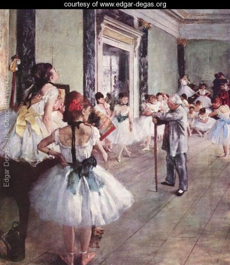 the-dance-class-degas impressionist art