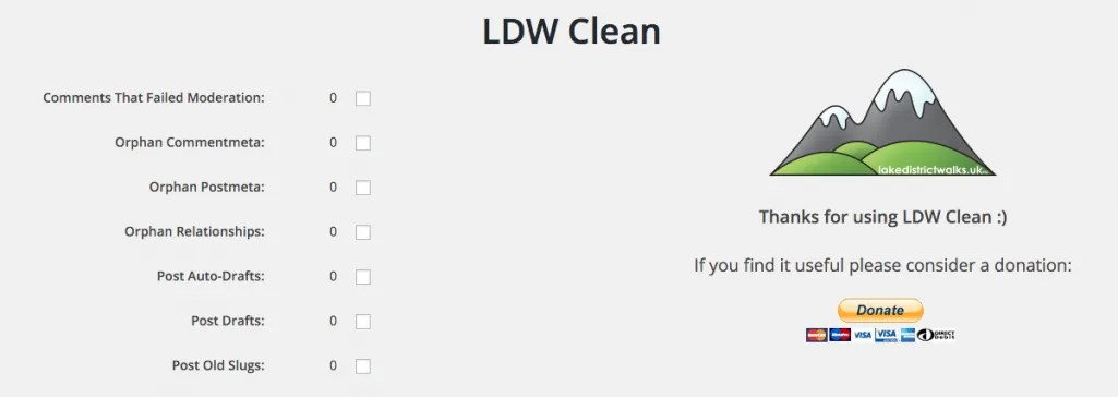 LDW Clean WordPress Dashboard Screenshot