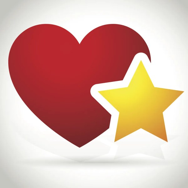 Heart Star Vector