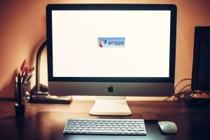 Mac Computer with Ampps Logo