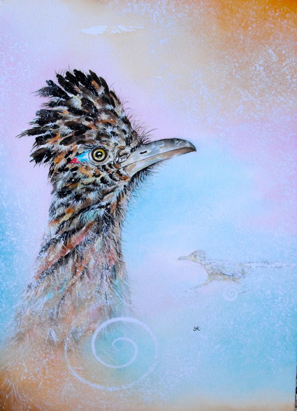 Roadrunner by visionary artist Madeleine Tuttle