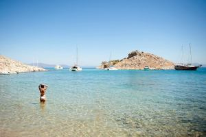 Agia Marina beach, Symi, Greece - @World Travel Mama