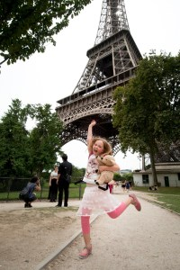 Elise at the Eiffel Tower - @World Travel Mama
