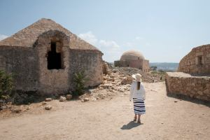 Rethymno fortress - desolate structures high above the town - @World Travel Mama
