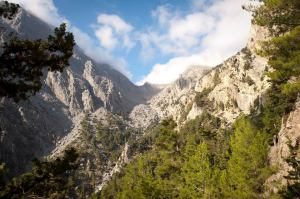 Samaria Gorge trailhead - @World Travel Mama