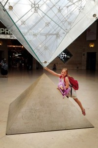 The Louvre pyramid - @World Travel Mama