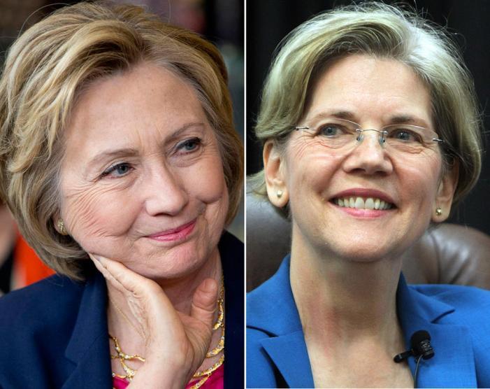 Clinton seen losing Wall Street with Elizabeth Warren as VP