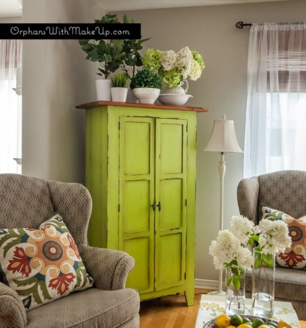 Vintage armoire makeover