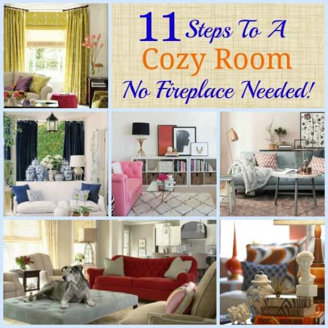 How to create a cozy room - with or without a fireplace