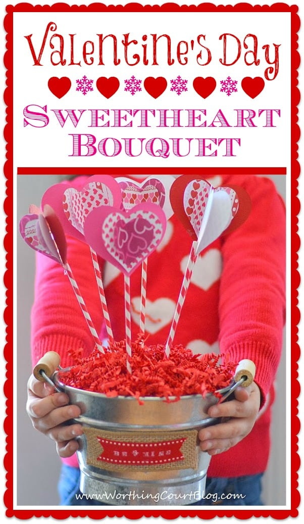 Sweetheart Bouquet Button