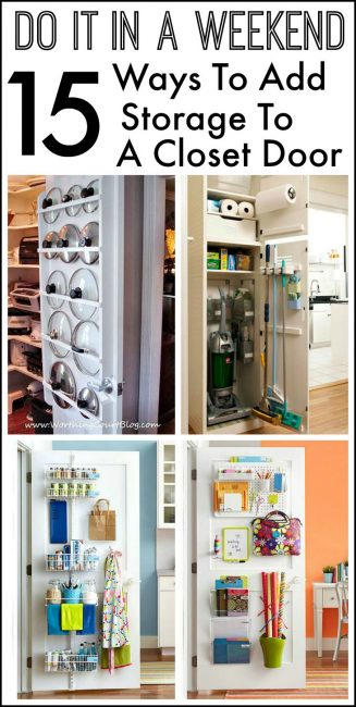 15 Ways To Add Storage To The Inside Of A Closet Door