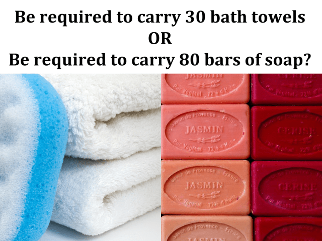 bath towels vs soap