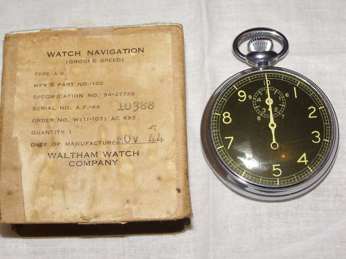 A look at the A-8 Ground Speed Stop Watch Waltham_A8_1