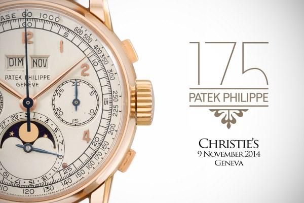 Christie's Patek Philippe 175th Anniversary
