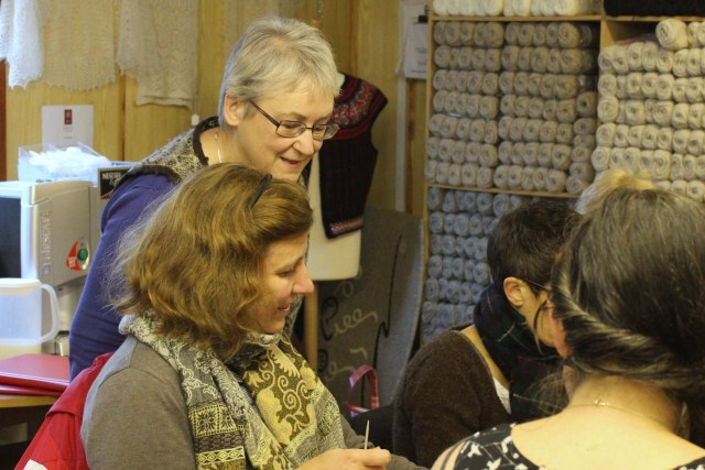 Fair Isle knitting with Hazel Tindall - photo © Ella Gordon and used with kind permission