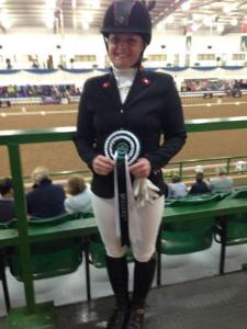 Jane with rosette winters 2017
