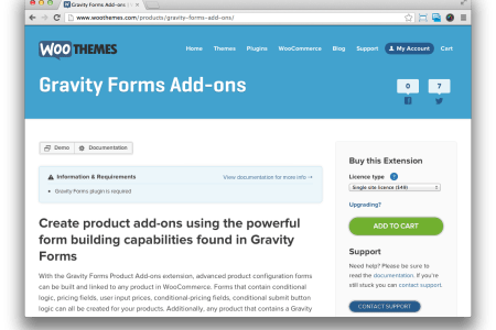 gravity forms add ons