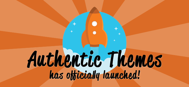 Authentic Themes Premium WordPress Theme Store Launch