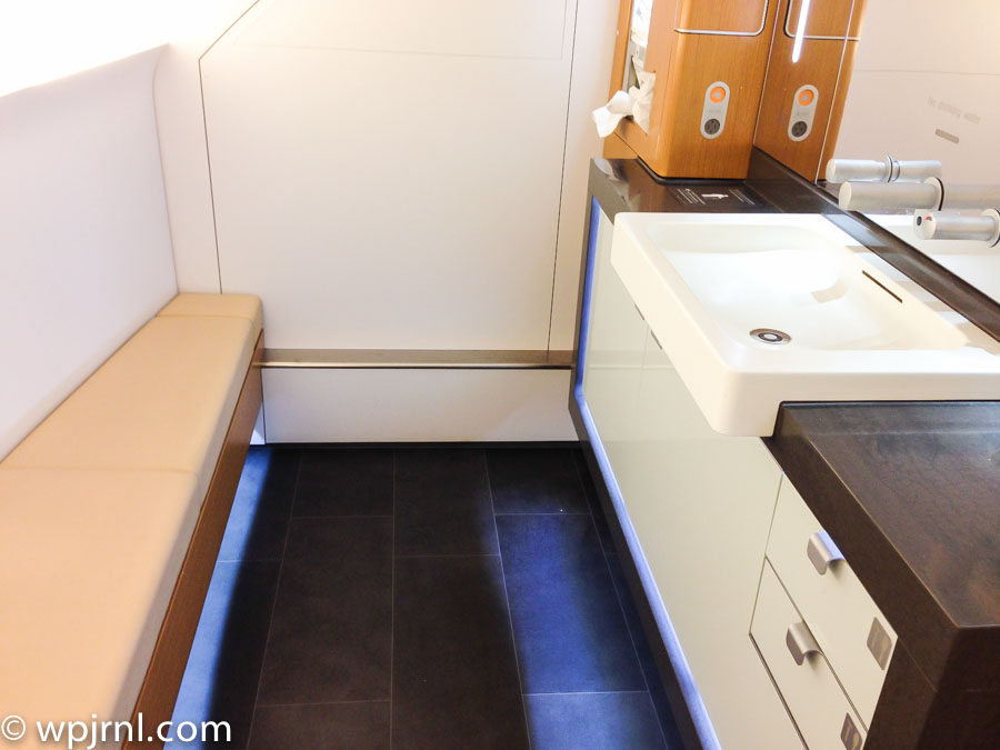 Lufthansa A380 Bathroom in First Class