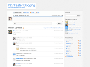 Tema P2 per WordPress