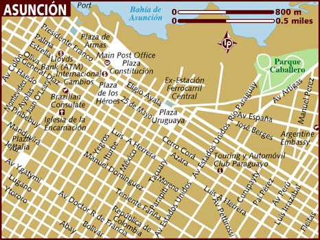 map of asuncion paraguay