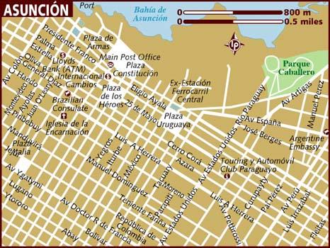 map of asuncion paraguay