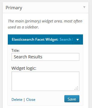 ElasticSearchWidget
