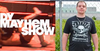 pro wrestling tees - indy mayhem show - jeremy meyer