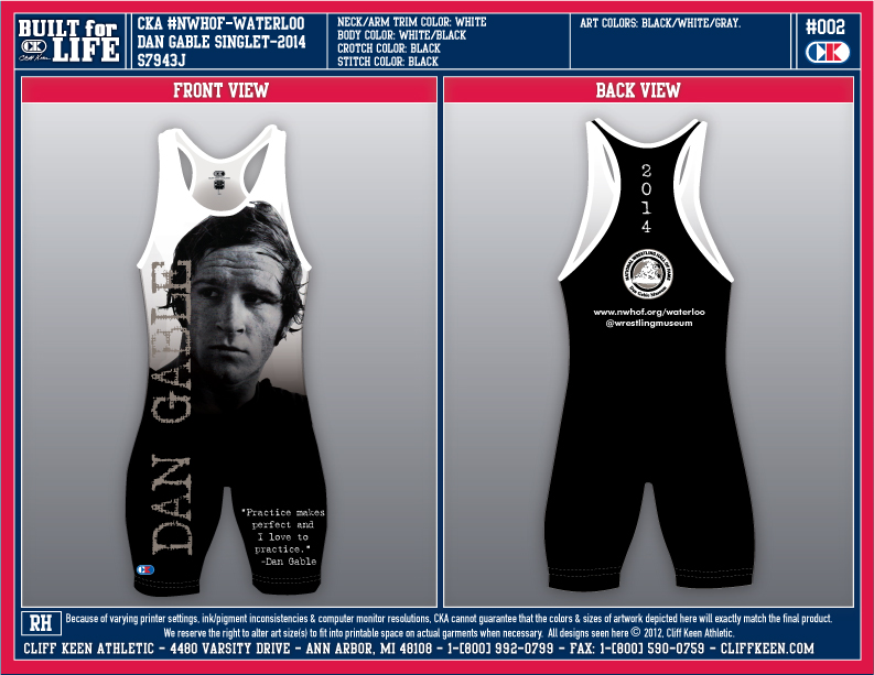 New Limited Edition Dan Gable Singlet