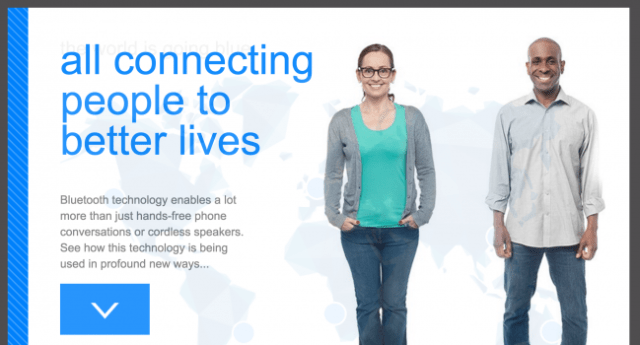 Bluetooth Website - connecting people to better lives section