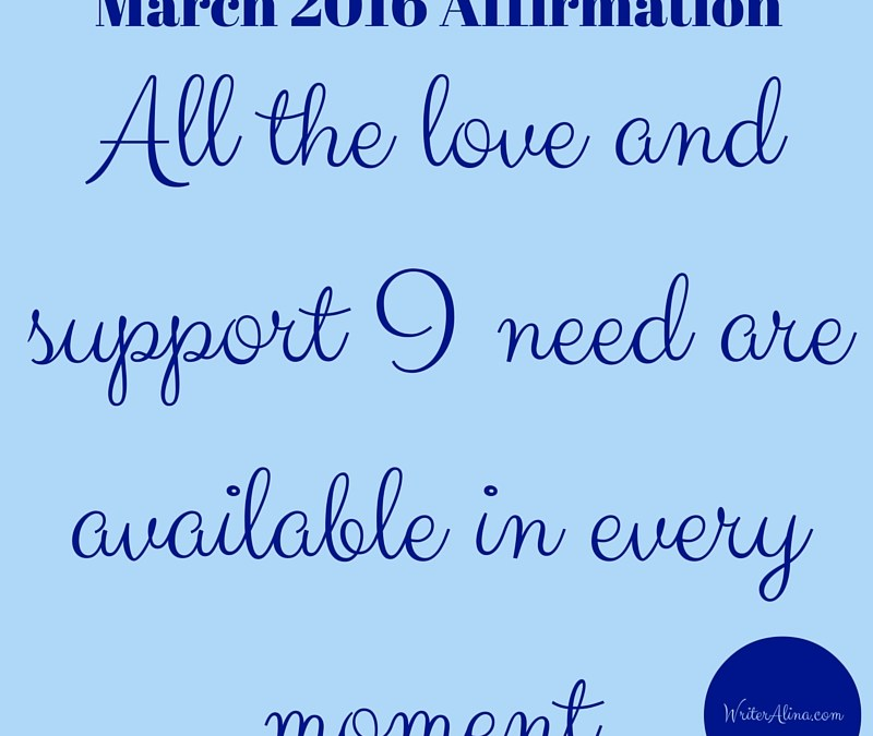 March 2016 Monthly Affirmation