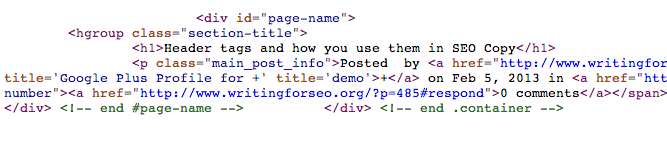 Header tags and how you use them in SEO Copy