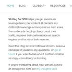 Changes to Writing For SEO. A story of Branding, Measurement, Divi and Staging