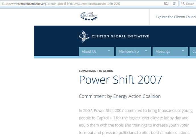 Power Shift 2007 Clinton Foundation