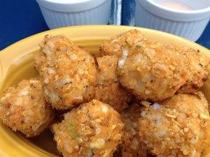 buffalo chicken quinoa balls