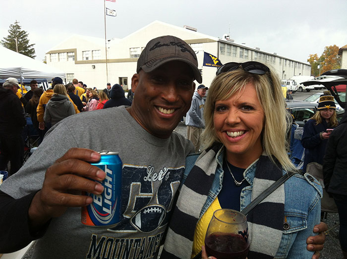 Tailgating with my beautiful wife, Jill