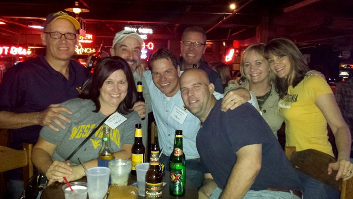 Hanging at a WVU alumni party at Billy Bob's, the world's largest honkey tonk, in Fort Worth, Texas, the night before the WVU vs. TCU game in 2013. We beat them, 30-27.