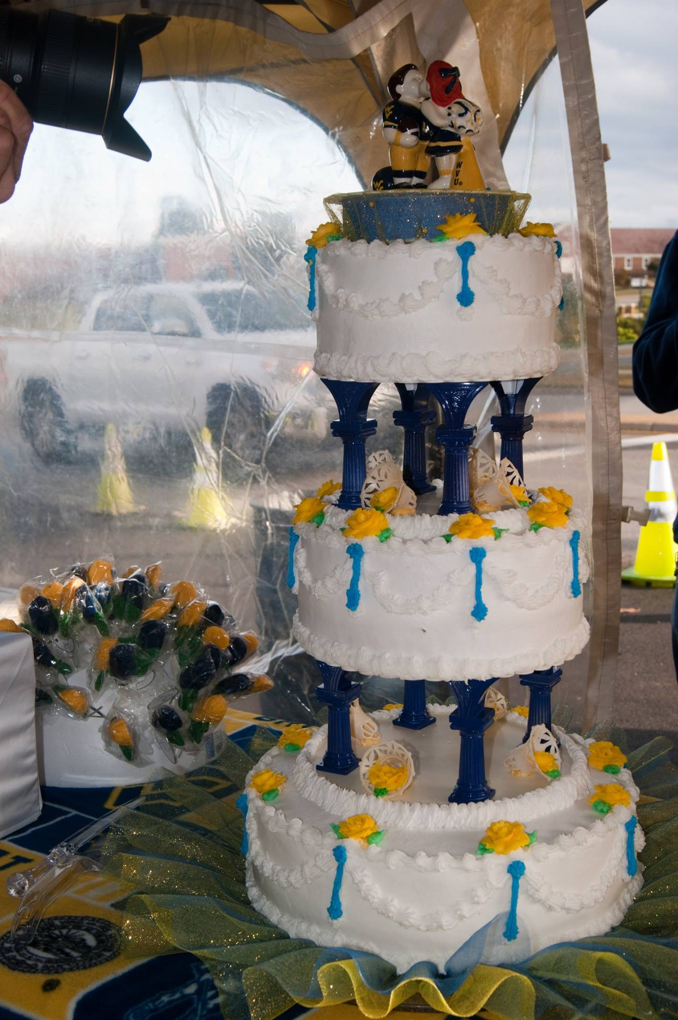 WVU-themed wedding cake