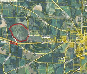 300x258 Bowen Mill Pond location west of Quitman, in Piscola Creek, by John S. Quarterman, for WWALS.net, 2013
