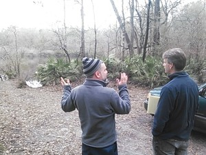 300x225 Don Thieme and Dan Chapman at Shadrick Sinkhole, in Sinkholes near the Withlacoochee River, by John S. Quarterman, for WWALS.net, 18 February 2015