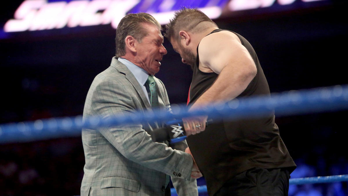 Kevin Owens busts open Vince McMahon on SmackDown