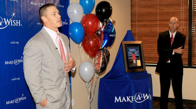 Make A Wish Foundation honors WWE and John Cena in Phoenix   WWE John Cena and WWE are honored by Make A Wish Foundation in Phoenix